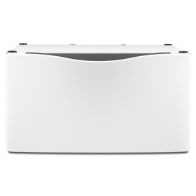 Laundry 1-2-3 15-1/2-in Laundry Pedestal with Drawer (White)