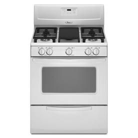 Shop whirlpool 30 in 5 burner freestanding 4 4 cu ft gas range white