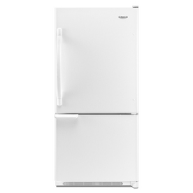 Whirlpool 18.5-cu ft Bottom-Freezer Refrigerator with Single Ice Maker (White) ENERGY STAR