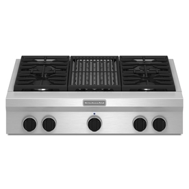 KitchenAid 36-in 5-Burner Gas Cooktop (Stainless)