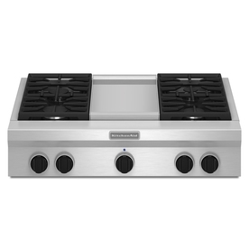 KitchenAid 4-Burner Gas Cooktop (Stainless Steel) (Common: 36-in; Actual: 35.938-in)