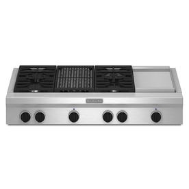 KitchenAid 4-Burner Gas Cooktop (Stainless Steel) (Common: 48-in; Actual: 47.625-in)