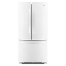 Maytag 21.5-cu ft French Door Refrigerator with Single Ice Maker (White) ENERGY STAR