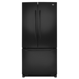 Maytag 21.7-cu ft French Door Refrigerator with Single Ice Maker (Black) ENERGY STAR