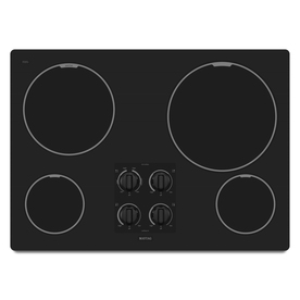 Maytag 30-in Smooth Surface Electric Cooktop (Black)