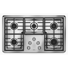 Maytag 5-Burner Gas Cooktop (Stainless) (Common: 36-in; Actual 36-in)