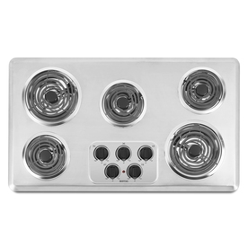 Maytag 5-Element Electric Cooktop (Stainless Steel) (Common: 36-in; Actual 36-in)
