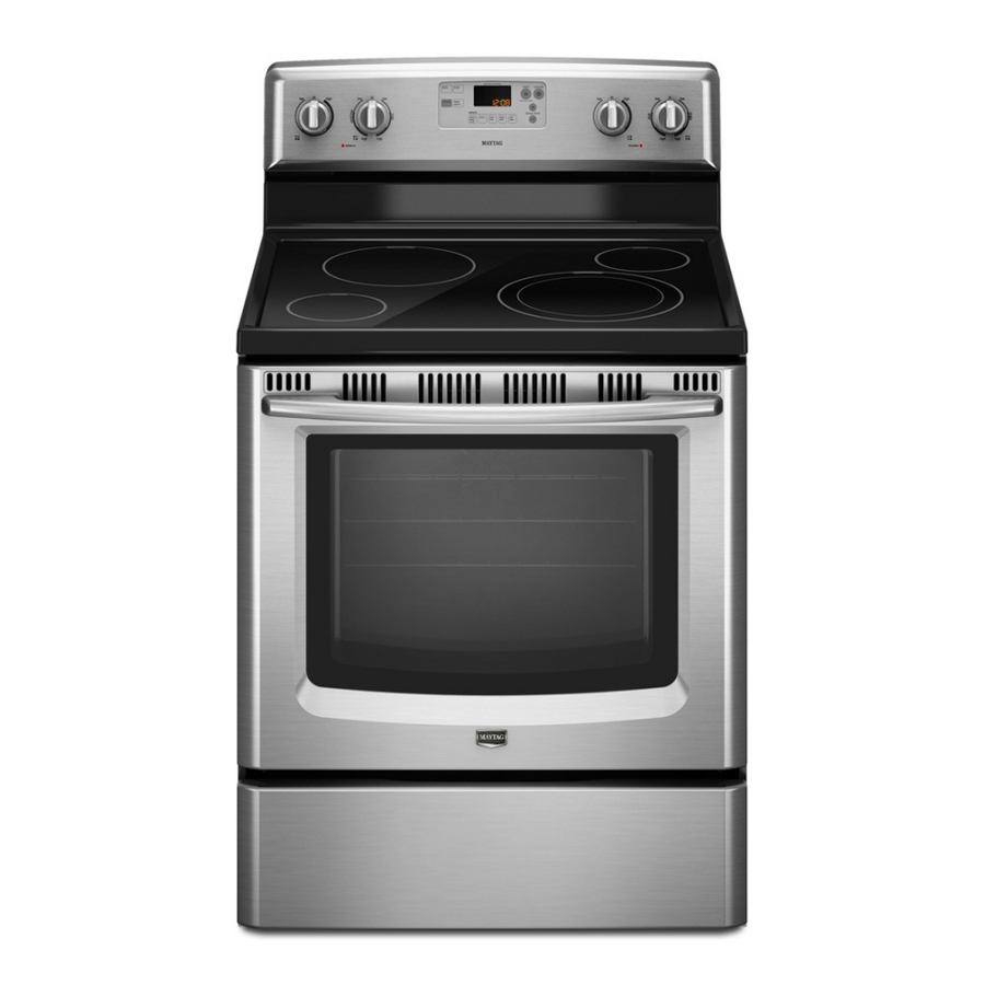 Shop maytag 30 inch freestanding electric range color stainless steel at - Inch electric range reviews ...