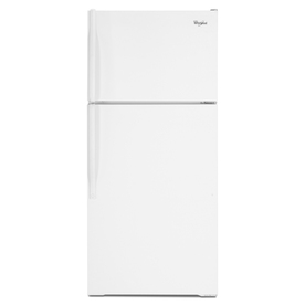 Whirlpool 17.6-cu ft Top-Freezer Refrigerator with Single Ice Maker (White)