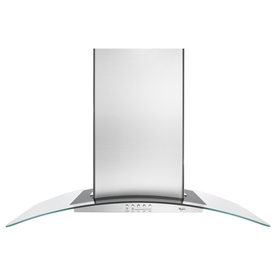 Whirlpool Gold Ducted Island Range Hood (Stainless) (Common: 36-in; Actual: 36-in)