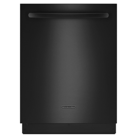 KitchenAid 24-in Built-In Dishwasher with Hard Food Disposer and Stainless Steel Tub (Black) ENERGY STAR