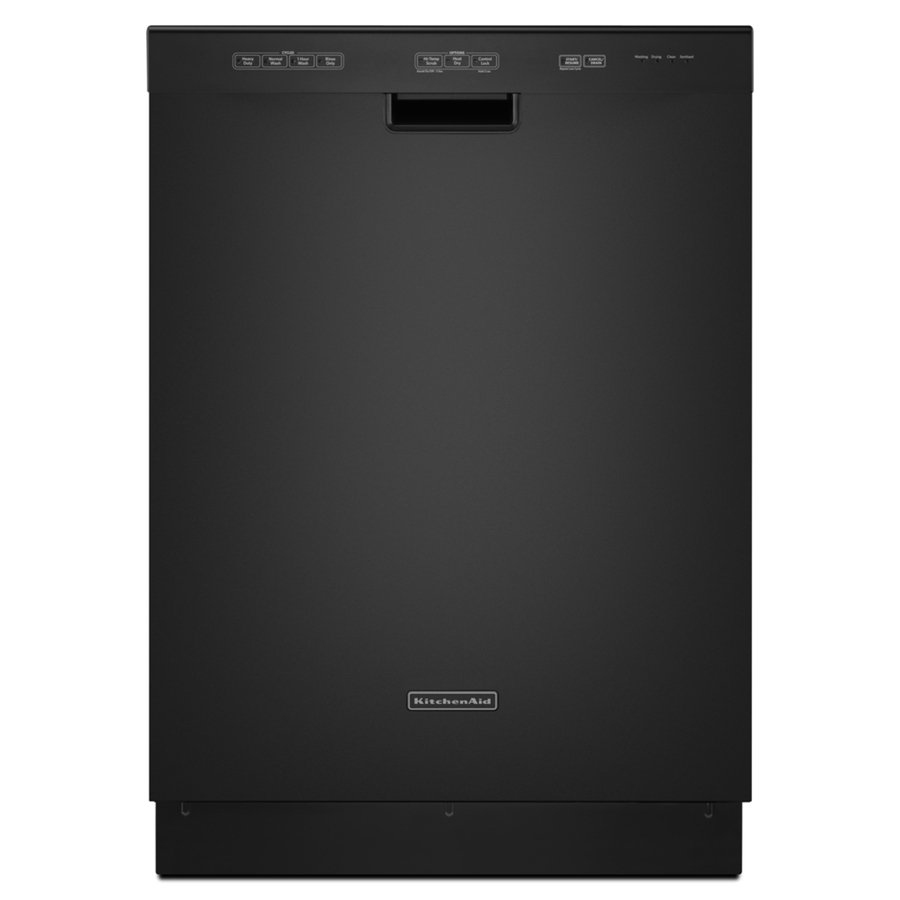 Shop Kitchenaid Architect Ii 24 In Black Stainless Steel: Shop KitchenAid 24-in Built-In Dishwasher With Hard Food Disposer And Stainless Steel Tub (Black