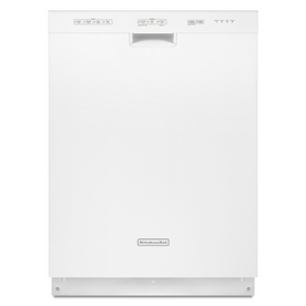 "KitchenAid 24"" Built-In Dishwasher with Hard Food Disposer (White) ENERGY STAR"