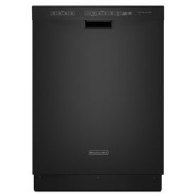 KitchenAid 49-Decibel Built-In Dishwasher with Hard Food Disposer (Black) (Common: 24-in; Actual 23.875-in) ENERGY STAR
