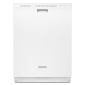 KitchenAid 24-in 49-Decibel Built-in Dishwasher with Hard Food Disposer Stainless Steel (White) ENERGY STAR