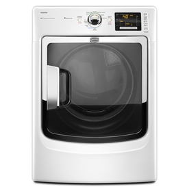 Maytag 7.4-cu ft Stackable Electric Dryer with Steam Cycle (White)