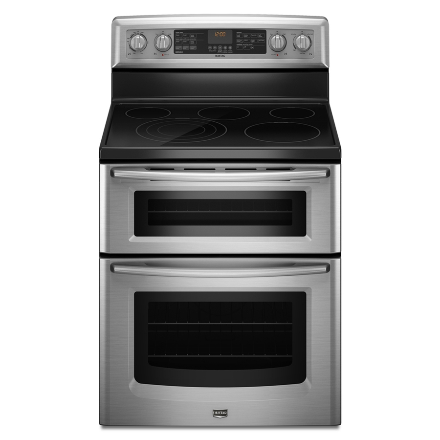 Stainless Steel Stove : ... -Cleaning Double Oven Electric Range (Stainless Steel) at Lowes.com