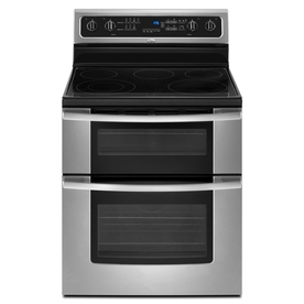 Whirlpool Gold 30-in Smooth Surface 5-Element 2.5 cu ft/4.2 cu ft Self-Cleaning Electric Range (Stainless Steel)
