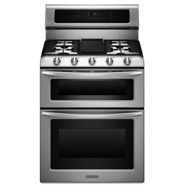 KitchenAid Architect II 30-in 5-Burner 3.9-cu ft/2.1-cu ft Self-Cleaning Double Oven Gas Range (Stainless Steel)