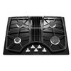 KitchenAid Architect II 4-Burner Gas Cooktop with Downdraft Exhaust (Black) (Common: 30-in; Actual: 30-in)