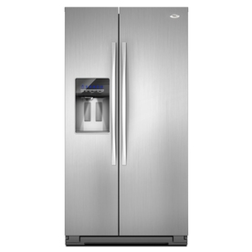 Whirlpool Gold 26.4 cu ft Side-by-Side Refrigerator (Monochromatic Stainless Steel) ENERGY STAR