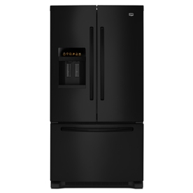 Maytag 25.6-cu ft 3 French Door Refrigerator with Single Ice Maker (Black) ENERGY STAR