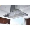 KitchenAid Convertible Island Range Hood (Stainless) (Common: 36-in; Actual 36-in)
