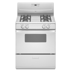 Whirlpool Freestanding 4.4-cu ft Gas Range (White) (Common: 30-in; Actual: 29.87-in)