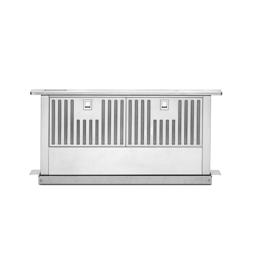 Shop kitchenaid downdraft range hood stainless steel at for Down draft range hood