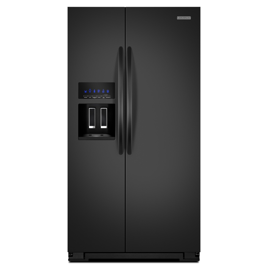 shop kitchenaid architect ii 25 6 cu ft side by side refrigerator with