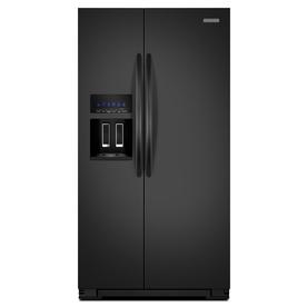 KitchenAid Architect II 25.6-cu ft Side-By-Side Refrigerator with Single Ice Maker (Black)