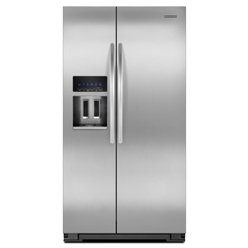 KitchenAid Architect II 22.5-cu ft Side-by-Side Counter-Depth Refrigerator with Single Ice Maker (Stainless Steel) ENERGY STAR