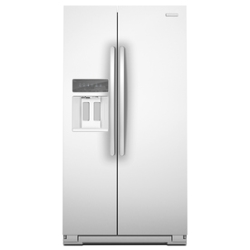 KitchenAid Architect II 22.5-cu ft Counter-Depth Side-by-Side Refrigerator with Single Ice Maker (White) ENERGY STAR