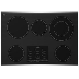 Whirlpool Gold 30-in Smooth Surface Electric Cooktop (Stainless Steel)
