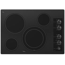 Whirlpool Gold Smooth Surface Electric Cooktop (Black) (Common: 30-in; Actual 30.8125-in)