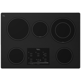 Whirlpool Gold 5-Element Smooth Surface Electric Cooktop (Black) (Common: 30-in; Actual 30.8125-in)