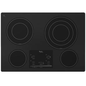Whirlpool Gold 30-in Smooth Surface Electric Cooktop (Black)