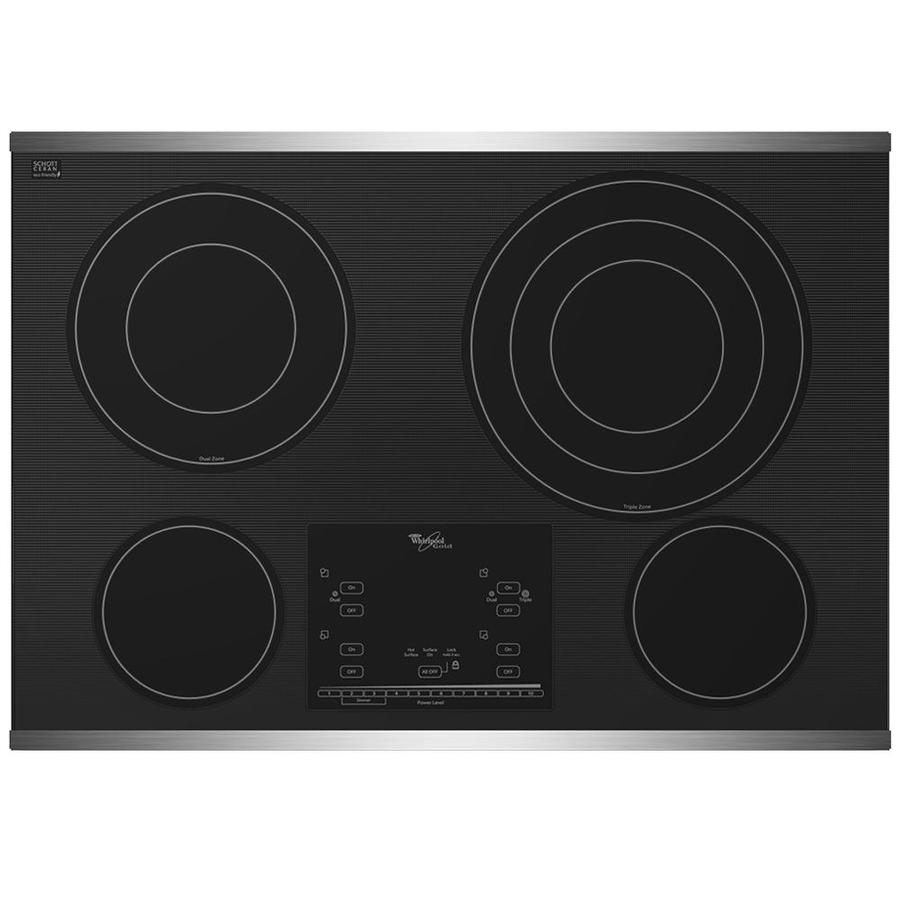 Black Whirlpool Electric Cooktops ~ Shop whirlpool inch smooth surface electric cooktop