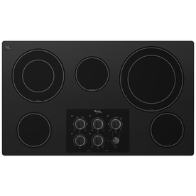 Whirlpool Gold 5-Element Smooth Surface Electric Cooktop (Black) (Common: 36-in; Actual 36.3125-in)
