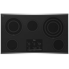 Whirlpool Gold 36-in Smooth Surface Electric Cooktop (Stainless Steel)