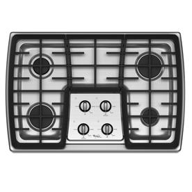 Whirlpool Gold 30-in 4-Burner Gas Cooktop (Stainless Steel)