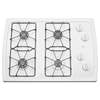 Whirlpool 30-in 4-Burner Gas Cooktop (White)
