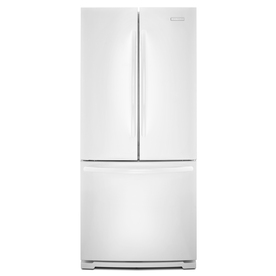KitchenAid Architect II 19.6-cu ft French Door Refrigerator with Single Ice Maker (White)