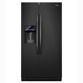 Whirlpool 26.4-cu ft Side-By-Side Refrigerator with Single Ice Maker (Black) ENERGY STAR