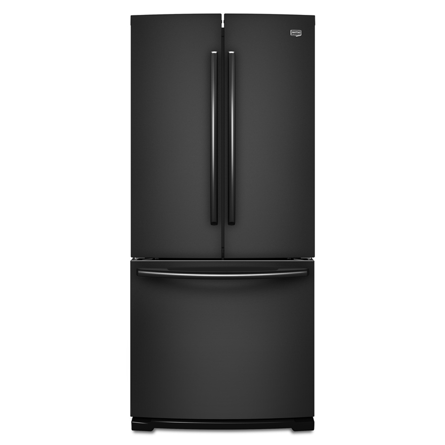 Shop maytag 19 6 cu ft french door refrigerator with for 19 6 cu ft french door refrigerator