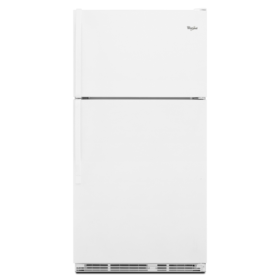 Shop Whirlpool 20 6 Cu Ft Top Freezer Refrigerator White