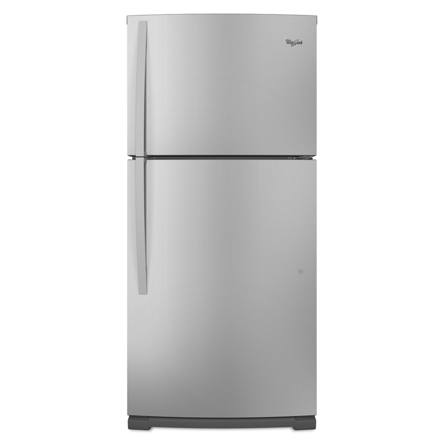 Shop Whirlpool 18 9 Cu Ft Top Freezer Refrigerator