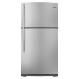 Whirlpool 21.2 cu ft Top-Freezer Refrigerator (Satina Steel) ENERGY STAR