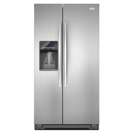 Whirlpool 26.4-cu ft Side-by-Side Refrigerator with Single Ice Maker (Mono Satina Steel) ENERGY STAR