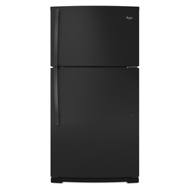 Whirlpool 21.1-cu ft Top-Freezer Refrigerator (Black)